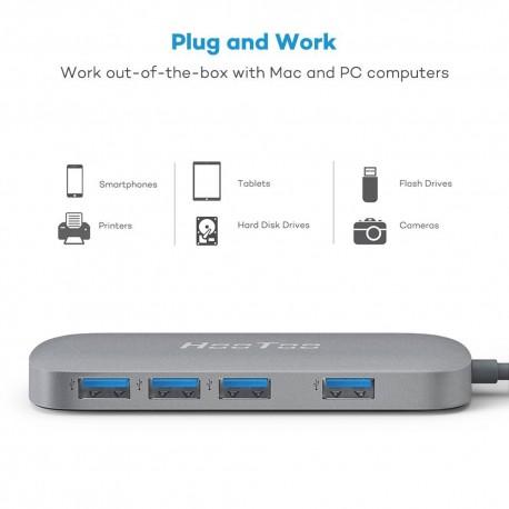Hub USB Type C vers 4 x USB 3.0
