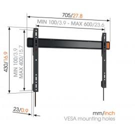 SUPPORT MURAL POUR ÉCRAN JUSQU'À 254 cm / 100'' Max 80kg