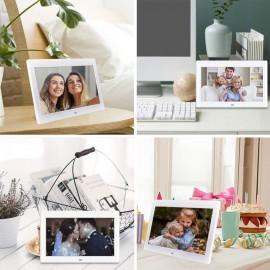 Cadre Photo numérique 10'' 1024 × 600 1080p avec télécommande