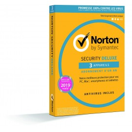 Norton Security Deluxe 3 postes 1 an