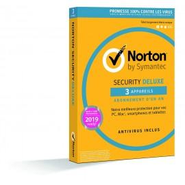 Norton Security Deluxe 3 postes 1 an