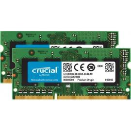 Mémoire So-DIMM DDR3L 1333 Mhz 8 Go (2 x 4Go) Crucial PC3-10600