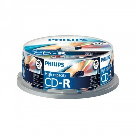 Spindle de 25 CD-R 800Mo vierges Philips