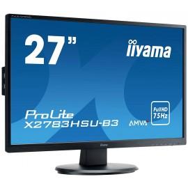"Moniteur iiyama 27"" LED 1920x1080 4 ms VGA/HDMI + HP X2783HSU-B3"