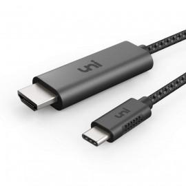 Câble USB Type C vers HDMI 4K 60Hz pour MacBook Pro 2017/2016, Samsung Galaxy S9/S8/Note 9/Note 9 etc
