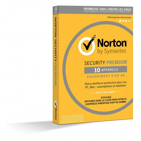 Norton Security Premium 10 postes 1 an