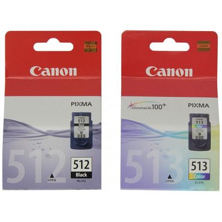 Canon 512 513 Multipack PG-512 Noir + CL-513 Couleur