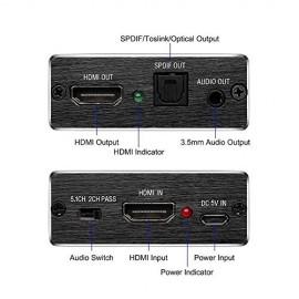Extracteur audio HDMI optique et jack 3.5mm