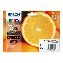Epson 33 XL multipack Cyan, Magenta, Jaune T3337 Orange