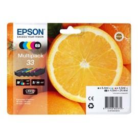 Epson 33 multipack Cyan, Magenta, Jaune T3337 Orange
