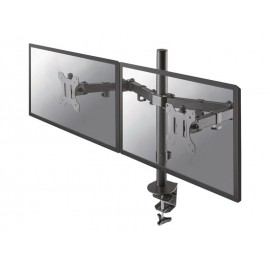 Support de bureau pour 2 écrans 17-27'' multi-axes NewStar Full Motion Dual Desk Mount