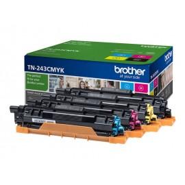 Toner Pack Brother TN-243 (Pack Noir, Cyan, Magenta, Jaune)
