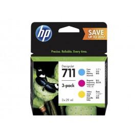 HP Pack 711 Couleur (Cyan, Magenta, Jaune)