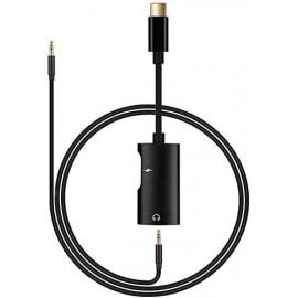 Adaptateur USB-C vers USB-C et prise Jack 3,5 mm + câble jack