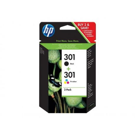 HP 301 Noir + 301 Couleur Combo pack