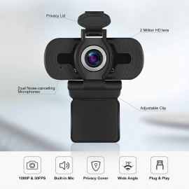 Webcam 1080p avec micro intégré
