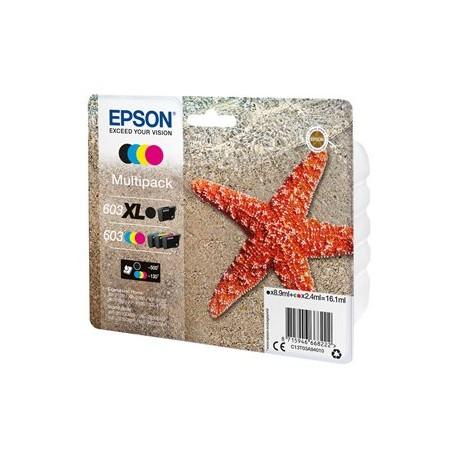 Epson multipack 603 T03 Noir XL, Cyan, Magenta, Jaune T03A9 Etoile de mer