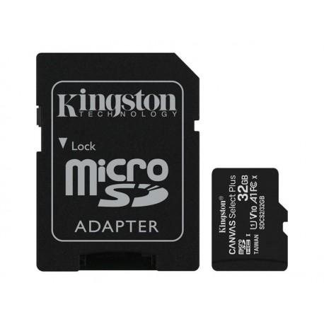 Carte mémoire microSD SDHC Kingston Canvas Select Plus A1 V10 UHS-I