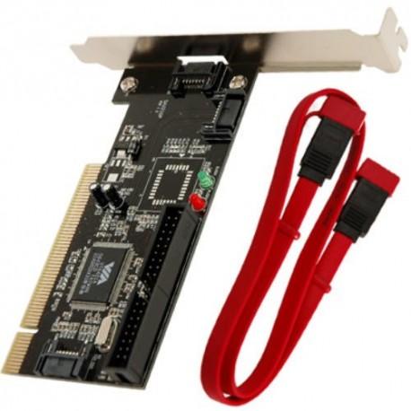 CARTE CONTROLEUR PCI 1 IDE + 2 SATA INTERNES + 1 SATA EXTERNE