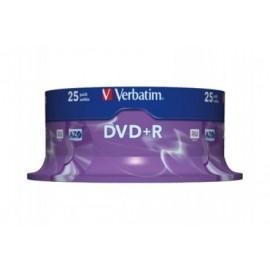 Boîte de 25 DVD+R 4.7 Go vierges Verbatim