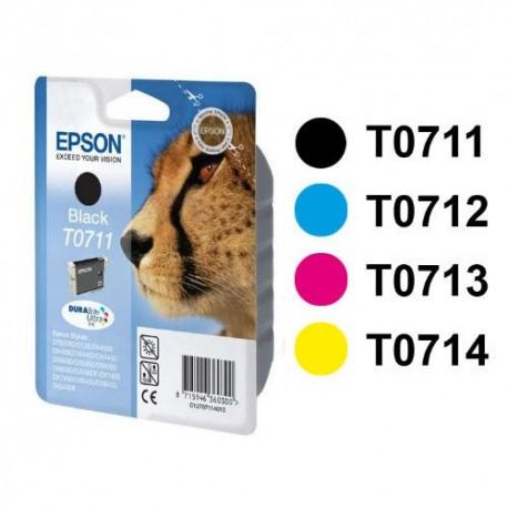 Epson Noir T0711 Guépard