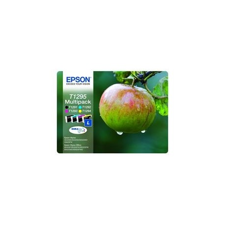 Epson multipack Noir, Cyan, Magenta, Jaune T1295 Pomme