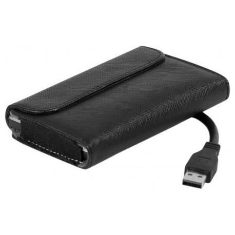 """Adaptateur USB 3.0 pour disque dur SATA 2,5"""" avec housse matelassée"""