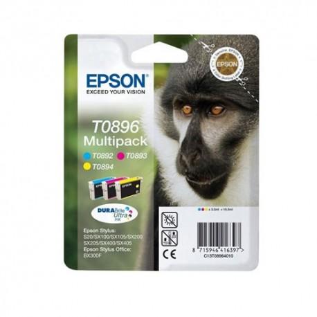 Epson multipack Noir, Cyan, Magenta, Jaune T0895 Singe