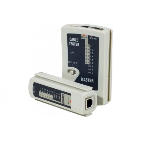 Testeur RJ45 / RJ12 / RJ11 réseau et téléphonie
