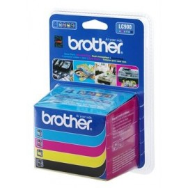 Brother LC900 Value Pack (Noir, Jaune, Cyan, Magenta)