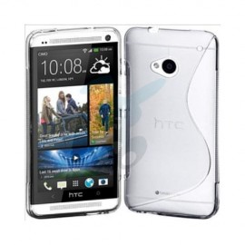 Etui Housse Coque Gel Vague S Transparent Htc One M7
