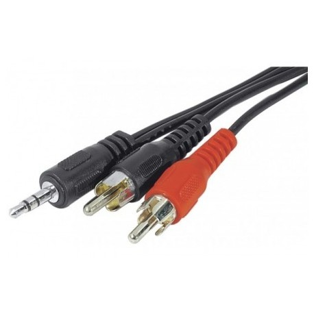 Cable jack 3.5mm vers 2xRCA 3m