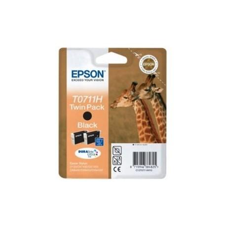 Epson Noir T0711H Twin Pack Girafe