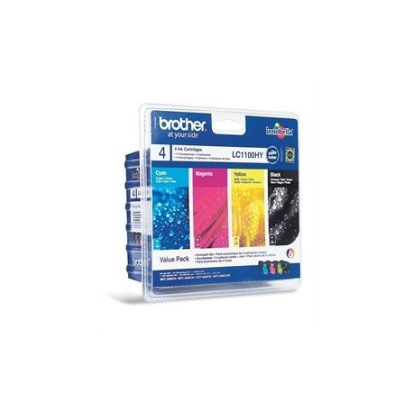 Brother LC1100 Value Pack (Noir, Jaune, Cyan, Magenta)