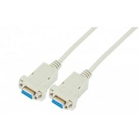 Cable DB9 F/F croisé 3m